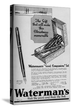 'Waterman's Good Companions Set', 1934, (1934)-Unknown-Stretched Canvas Print