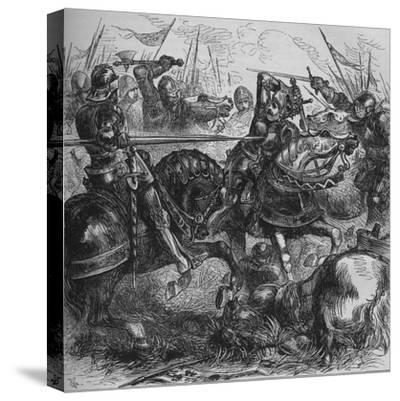 'Richard III at Bosworth', 22 August 1485, (c1880)-Unknown-Stretched Canvas Print