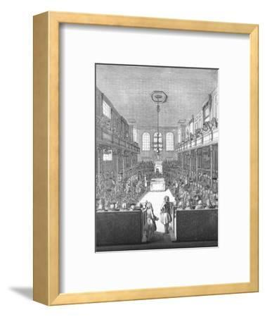 'House of Commons in the time of George II', 1845-Unknown-Framed Giclee Print