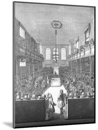 'House of Commons in the time of George II', 1845-Unknown-Mounted Giclee Print