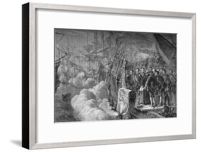 'Drake's Funeral', January 1596, (c1880)-Unknown-Framed Giclee Print
