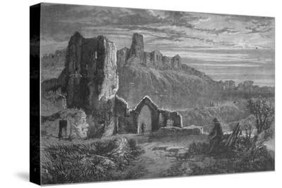 'Ruins of Hastings Castle', c1880-Unknown-Stretched Canvas Print
