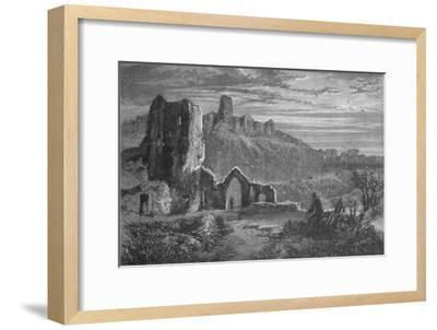 'Ruins of Hastings Castle', c1880-Unknown-Framed Giclee Print