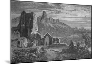 'Ruins of Hastings Castle', c1880-Unknown-Mounted Giclee Print