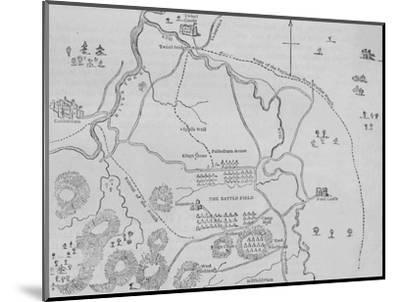 'Plan of Flodden Field', 9 September 1513, (c1880)-Unknown-Mounted Giclee Print