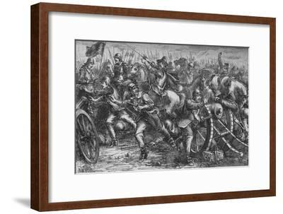 'Attack on Leith', c1560, (c1880)-Unknown-Framed Giclee Print