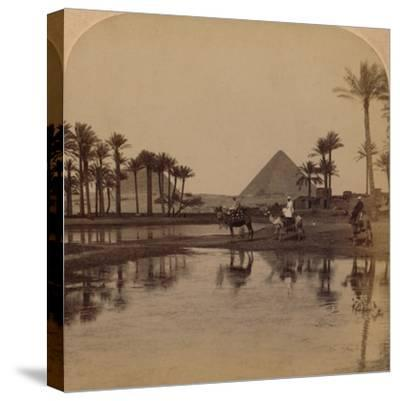 'Cheops from the fertile Valley of the Nile, Egypt', 1896-Unknown-Stretched Canvas Print