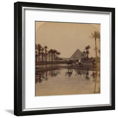 'Cheops from the fertile Valley of the Nile, Egypt', 1896-Unknown-Framed Photographic Print