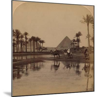 'Cheops from the fertile Valley of the Nile, Egypt', 1896-Unknown-Mounted Photographic Print