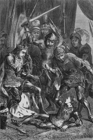 'Murder of Prince Edward at Tewkesbury', 4 May 1471, (c1880)-Unknown-Framed Giclee Print