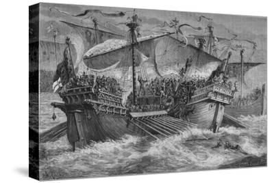 'The Battle of Dover', 24 August 1217, (c1880)-Unknown-Stretched Canvas Print