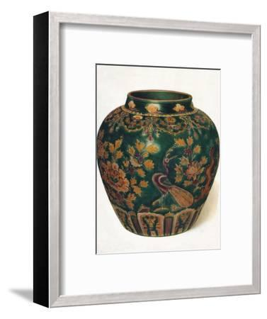 'Wine Jar: Ming Dynasty', c1500, (1936)-Unknown-Framed Photographic Print