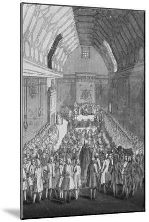 'House of Lords in the time of George II', 1845-Unknown-Mounted Giclee Print