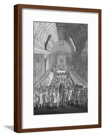 'House of Lords in the time of George II', 1845-Unknown-Framed Giclee Print