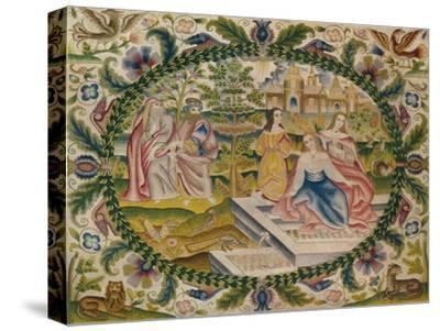 'Embroidered Picture, Mid-17th Century', (1929)-Unknown-Stretched Canvas Print
