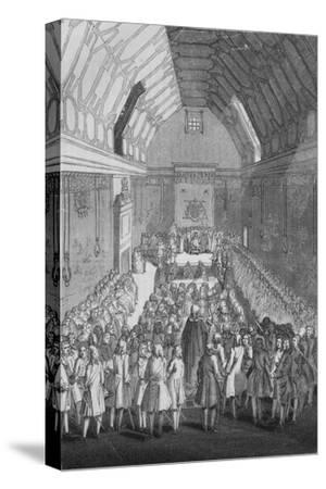 'House of Lords in the time of George II', 1845-Unknown-Stretched Canvas Print
