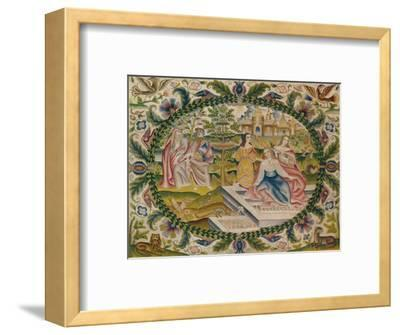 'Embroidered Picture, Mid-17th Century', (1929)-Unknown-Framed Giclee Print