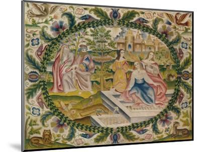 'Embroidered Picture, Mid-17th Century', (1929)-Unknown-Mounted Giclee Print