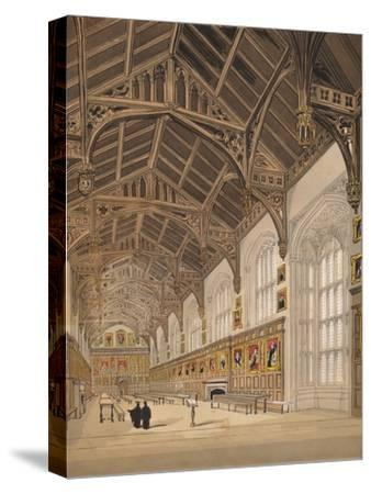 'Christ Church Hall Oxford', 1845-Unknown-Stretched Canvas Print