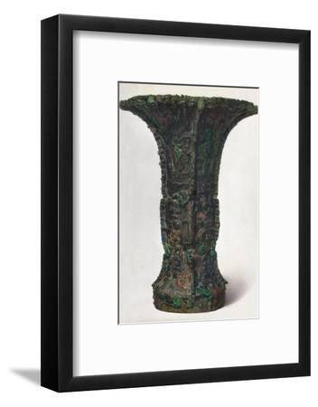 'Wine Vessel: KU', c12th to 3rd century BC, (1936)-Unknown-Framed Photographic Print
