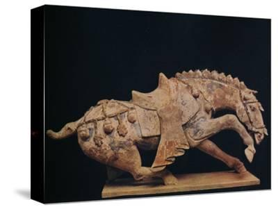 'Pottery Figure of a Horse - T'Ang Dynasty', c7th to 10th century AD, (1936)-Unknown-Stretched Canvas Print