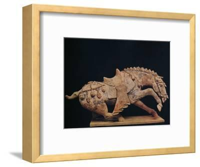 'Pottery Figure of a Horse - T'Ang Dynasty', c7th to 10th century AD, (1936)-Unknown-Framed Photographic Print