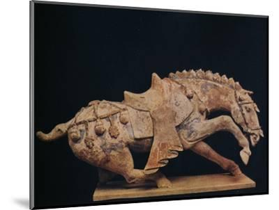 'Pottery Figure of a Horse - T'Ang Dynasty', c7th to 10th century AD, (1936)-Unknown-Mounted Photographic Print