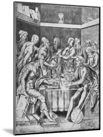 'Agrippa Instructing His Pupils Mathematically', 1553, (1936)-Unknown-Mounted Giclee Print