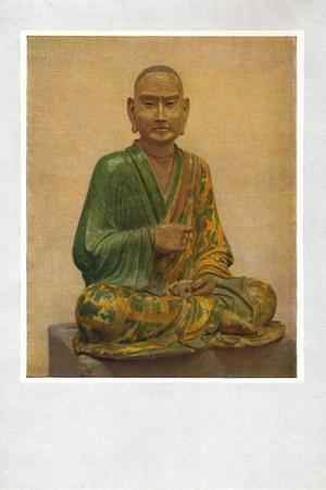 'Seated Figure of a Lohan - T'Ang Dynasty', c7th to 10th century AD, (1936)-Unknown-Framed Photographic Print