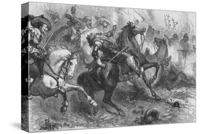 'Death of Falkland, at Newbury', 20 September 1643, (c1880)-Unknown-Stretched Canvas Print