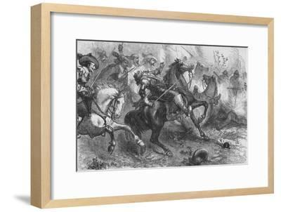 'Death of Falkland, at Newbury', 20 September 1643, (c1880)-Unknown-Framed Giclee Print