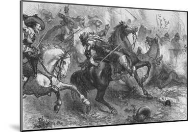 'Death of Falkland, at Newbury', 20 September 1643, (c1880)-Unknown-Mounted Giclee Print
