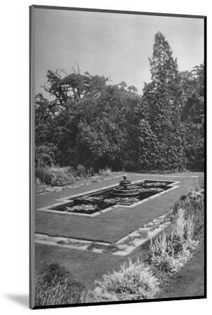 'The Lily Basin, The White Lodge, Richmond', 1926-Unknown-Mounted Photographic Print