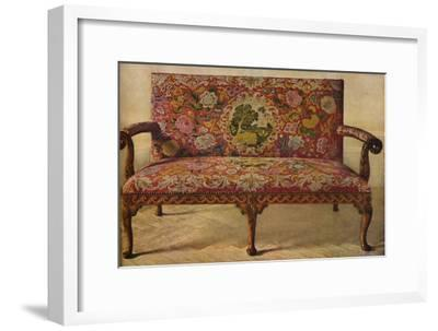 'A Queen Anne Settee Upholstered in Petit Point', c1900, (1936)-Unknown-Framed Giclee Print