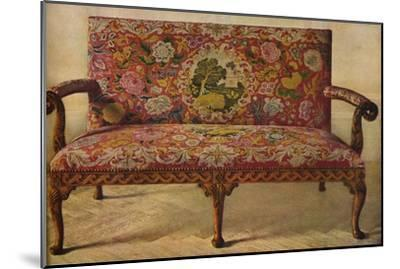 'A Queen Anne Settee Upholstered in Petit Point', c1900, (1936)-Unknown-Mounted Giclee Print