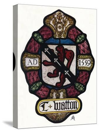 'The Arms of Thomas Watton', c1900, (1936)-Unknown-Stretched Canvas Print