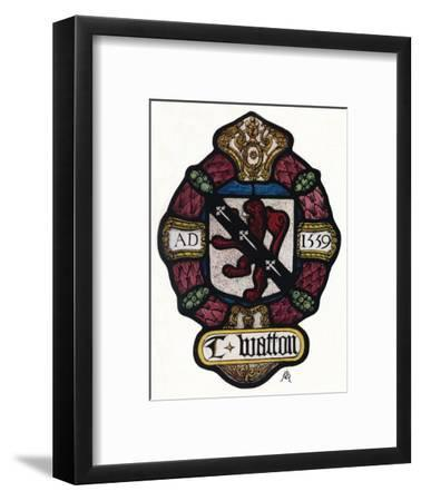 'The Arms of Thomas Watton', c1900, (1936)-Unknown-Framed Giclee Print