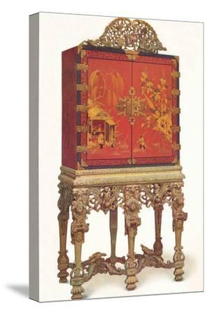 'Red and Gold Lacquer Cabinet', c1695, (1936)-Unknown-Stretched Canvas Print
