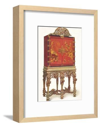 'Red and Gold Lacquer Cabinet', c1695, (1936)-Unknown-Framed Photographic Print