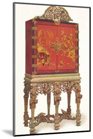 'Red and Gold Lacquer Cabinet', c1695, (1936)-Unknown-Mounted Photographic Print