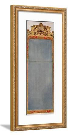 'A Very Rare Pier Glass of c1720 in frame decorated with Red Lacquer', c1720, (1936)-Unknown-Framed Photographic Print