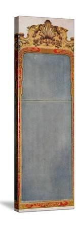 'A Very Rare Pier Glass of c1720 in frame decorated with Red Lacquer', c1720, (1936)-Unknown-Stretched Canvas Print