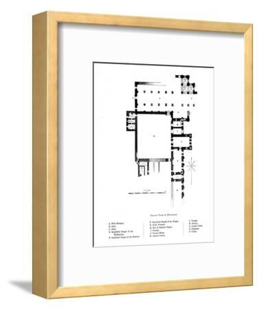 'Ground Plan of Dryburgh', 1897-Unknown-Framed Giclee Print