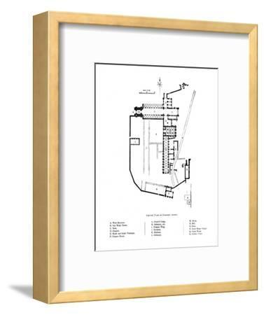 'Ground Plan of Furness Abbey', 1897-Unknown-Framed Giclee Print