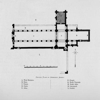 'Ground Plan of Jedburgh Abbey', 1897-Unknown-Framed Giclee Print