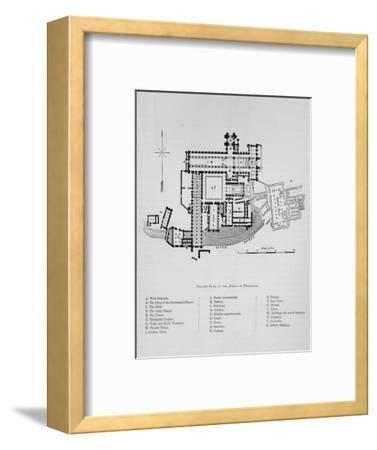 'Ground Plan of Abbey of Fountains', Fountains Abbey,1897-Unknown-Framed Giclee Print