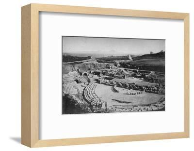 'Carthage. The Amphitheatre', c1913-Charles JS Makin-Framed Photographic Print