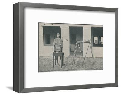 'Major Battersby using the Localizing Apparatus', c1890, (1910)-Unknown-Framed Photographic Print