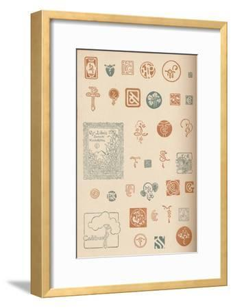 'Monograms and Marks', c1890, (1905)-Unknown-Framed Giclee Print