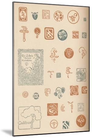 'Monograms and Marks', c1890, (1905)-Unknown-Mounted Giclee Print